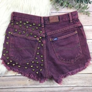 Vintage LEE High Waist Distressed Cutoff Shorts